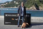 Argentinian actor Ricardo Darin poses with the actor dog during the `Truman´ film presentation a 63rd Donostia Zinemaldia (San Sebastian International Film Festival) in San Sebastian, Spain. September 19, 2015. (ALTERPHOTOS/Victor Blanco)