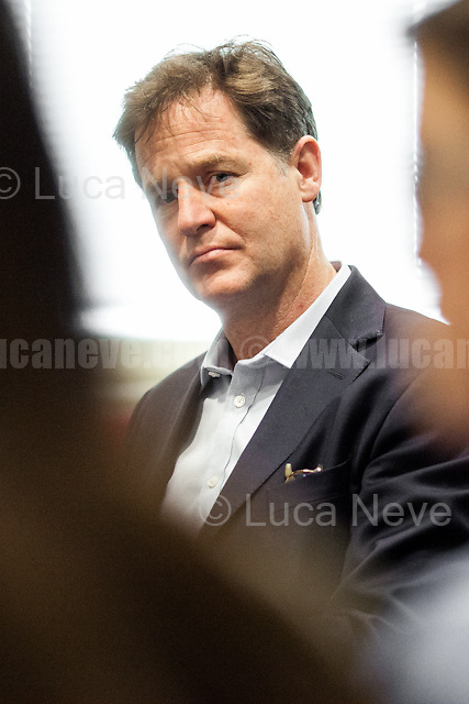 Nick Clegg (Liberal Democrats politician and Former British Deputy Prime Minister of the Coalition Government 2010-2015 - Conservative Party and Liberal Democrats).<br />