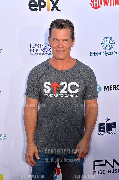 SANTA MONICA, CA. September 07, 2018: Josh Brolin at the 2018 Stand Up To Cancer fundraiser at Barker Hangar, Santa Monica Airport.