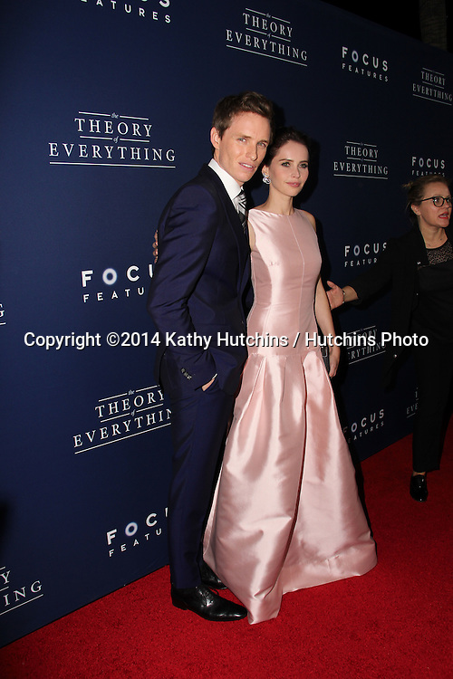 "LOS ANGELES - OCT 24:  Eddie Redmayne, Felicity Jones at the ""The Theory Of Everything"" Premiere at the AMPAS Samuel Goldwyn Theater on October 24, 2014 in Beverly Hills, CA"