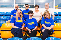 Picture by Rogan Thomson/SWpix.com - 08/12/2017 - Swimming - Team Bath Karen Bowen Feature -  Bath University, Bath, England - Karen Bowen poses with club patron Stephanie Millward MBE and the other Team Bath AS volunteers.