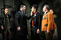 """English Touring Opera presents """"Don Giovanni"""", by Wolfgang Amadeus Mozart, at the Hackney Empire.  Directed by Lloyd Wood, with set & costume design by Anna Fleischle and lighting design by Guy Hoare. Picture shows:  George von Bergen (Don Giovanni),  Bradley Travis (Masetto), Matthew Stiff (Leporello)."""