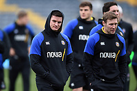 Freddie Burns of Bath Rugby looks on prior to the match. Gallagher Premiership match, between Worcester Warriors and Bath Rugby on January 5, 2019 at Sixways Stadium in Worcester, England. Photo by: Patrick Khachfe / Onside Images