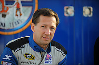 Nov. 13, 2009; Avondale, AZ, USA; NASCAR Sprint Cup Series driver John Andretti during qualifying for the Checker O'Reilly Auto Parts 500 at Phoenix International Raceway. Mandatory Credit: Mark J. Rebilas-