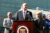 Governor Jan Brewer(cq) and Attorney General Tom Horne(cq) File a countersue on Arizona Immigration law against the Federal Goverment along side Russell Pearce at the Federal Court In Phoenix. On Thursday Feb 10, 2011..Photo by AJ Alexander