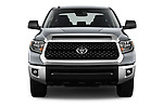 Car photography straight front view of a 2019 Toyota Tundra SR5 5.7L Crew Max 4WD Short Bed 4 Door Pick Up