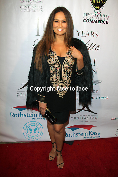 BEVERLY HILLS, CA - February 05: Tia Carrere at Experience East Meets West honoring Beverly Hills' momentous centennial year, Crustacean, Beverly Hills, February 05, 2014.<br /> Credit: MediaPunch/face to face<br /> - Germany, Austria, Switzerland, Eastern Europe, Australia, UK, USA, Taiwan, Singapore, China, Malaysia, Thailand, Sweden, Estonia, Latvia and Lithuania rights only -