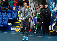 Leeds United's Luke Ayling leads his side out<br /> <br /> Photographer Andrew Kearns/CameraSport<br /> <br /> The EFL Sky Bet Championship - Sheffield Wednesday v Leeds United - Saturday 26th October 2019 - Hillsborough - Sheffield<br /> <br /> World Copyright © 2019 CameraSport. All rights reserved. 43 Linden Ave. Countesthorpe. Leicester. England. LE8 5PG - Tel: +44 (0) 116 277 4147 - admin@camerasport.com - www.camerasport.com
