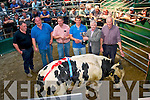 A male Belgian Blue,who was sold for 1600euro, took 1st place at Miltown mart show and sale last Saturday afternoon,in the ring were L-R Sean Mitchell(buyer)Michael Regan&Kenneth Grant both judges,Declan Sheehan (owner)Denis Sheehan (Manager Miltown mart) and Jimmy Daly (chairman).
