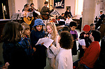 TORONTO BLESSING, EVANGELICAL CHURCH OF ST NICHOLAS, ASHILL, NORFOLK CHILDREN SING BEFORE LEAVING FOR SUNDAY SCHOOL,