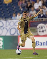 Philadelphia Union forward Sebastien Le Toux (9) at midfield. The Philadelphia Union defeated New England Revolution, 2-1, at Gillette Stadium on August 28, 2010.