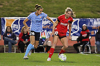 Piscataway, NJ - Sunday Sept. 25, 2016: Sarah Killion, Allie Long during a regular season National Women's Soccer League (NWSL) match between Sky Blue FC and the Portland Thorns FC at Yurcak Field.