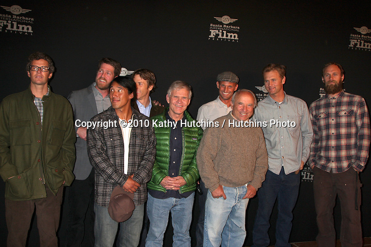 "Filmmakers, including director Chris Malloy & Cinematographer Danny moder.arriving at the ""180 Degree South""  World Premiere at the Santa Barbara International Film Festival.Arlington Theater.Santa Barbara, CA.February 10, 2010.©2010 Kathy Hutchins / Hutchins Photo...."