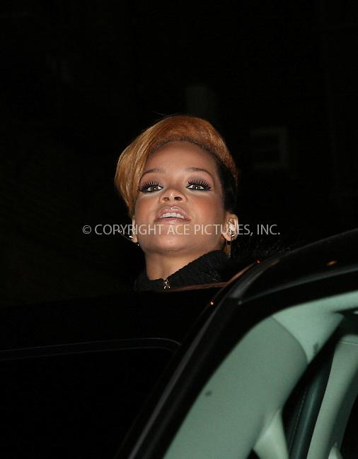 WWW.ACEPIXS.COM . . . . . ....November 24 2009, New York City....Singer Rihanna made an appearance at 'The Late Show with David Letterman' on November 24 2009 in New York City....Please byline: NANCY RIVERA - ACEPIXS.COM.. . . . . . ..Ace Pictures, Inc:  ..tel: (212) 243 8787 or (646) 769 0430..e-mail: info@acepixs.com..web: http://www.acepixs.com