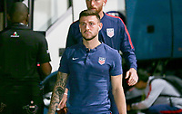 GEORGETOWN, GRAND CAYMAN, CAYMAN ISLANDS - NOVEMBER 19: Paul Arriola #7 of the United States heads to the locker room during a game between Cuba and USMNT at  Truman Bodden Sports Complex on November 19, 2019 in Georgetown, Grand Cayman.