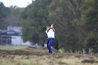 Pablo Larrazabal (ESP) on the 13th fairway during Round 3 of the Sky Sports British Masters at Walton Heath Golf Club in Tadworth, Surrey, England on Saturday 13th Oct 2018.<br /> Picture:  Thos Caffrey | Golffile