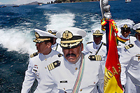 The Bolivian Navy mourn the day they lost their ocean to Chile in the War of the Pacific. Bolivia lost what is now northern Chile in a war over nitrates leaving Bolivia without access to the ocean.