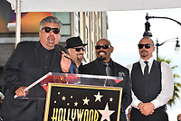 LOS ANGELES, CA. April 18, 2019: George Lopez &amp; Cypress Hill, B Real, Sen Dog, DJ Muggs at the Hollywood Walk of Fame Star Ceremony honoring hip-hop group Cypress Hill.<br /> Pictures: Paul Smith/Featureflash