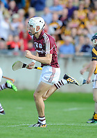 28th June 2014; Jason Flynn of Galway celebrates after scoring a goal. GAA Hurling Senior Championship Semi-Final replay Kilkenny v Galway, O'Connor Park, Tullamore. Picture credit: Tommy Grealy/actionshots.ie.