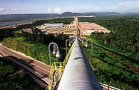 Cia. Vale do Rio Doce. Vista da esteira de rolagem. Serra do Sossego<br />Canãa dos Carajás-Pará-Brasil<br />Foto: Paulo Santos/ Interfoto<br />Negativo 135 Nº 8501 T2 7 F2a