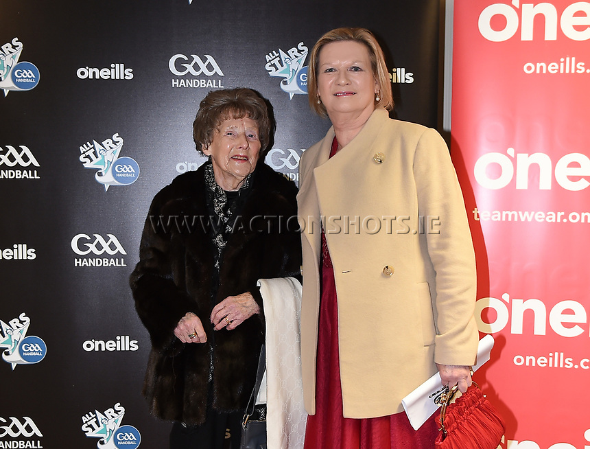 03/02/2018; GAA Handball All-Stars Awards 2018; Croke Park, Dublin;<br /> Eileen Dunne and her mother Lilly Dunne.<br /> Photo Credit: actionshots.ie/Tommy Grealy