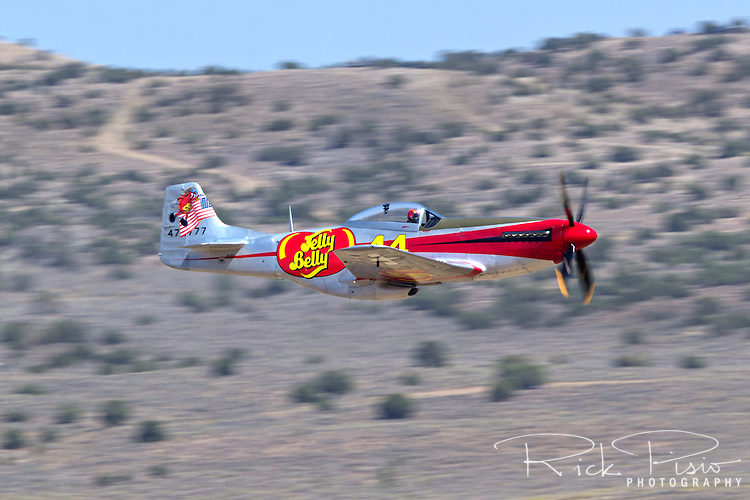 "P-51 Mustang ""Sparky"" in flight during the 2013 National Championship Air Races"
