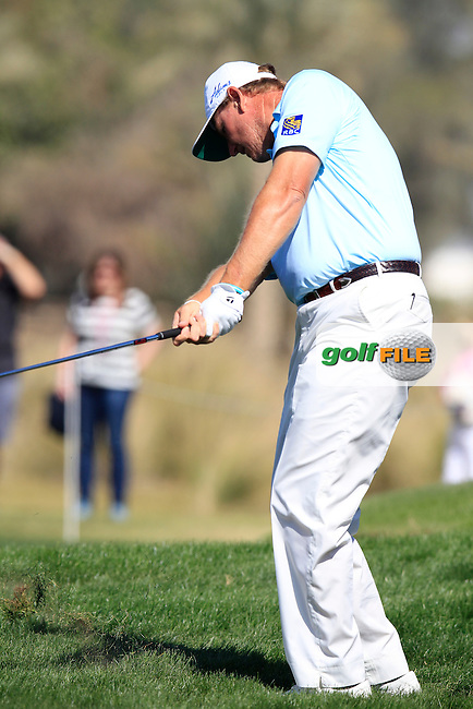 Ernie ELS (RSA) chips into the 9th green during Saturday's Final Round of the 2015 Commercial Bank Qatar Masters held at Doha Golf Club, Doha, Qatar.: Picture Eoin Clarke, www.golffile.ie: 1/24/2015