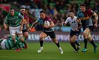 Harlequin's Niall Saunders in action during todays match<br /> <br /> Photographer Bob Bradford/CameraSport<br /> <br /> Premiership Rugby Cup Round 2 Pool 1 - Harlequins v Newcastle Falcons - Sunday 4th November 2018 - Twickenham Stoop - London<br /> <br /> World Copyright &copy; 2018 CameraSport. All rights reserved. 43 Linden Ave. Countesthorpe. Leicester. England. LE8 5PG - Tel: +44 (0) 116 277 4147 - admin@camerasport.com - www.camerasport.com