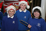 Joe Joli, Johnny White and Ellie Selby at the Christmas Carol Singing with Mell National School...Photo NEWSFILE/Jenny Matthews.(Photo credit should read Jenny Matthews/NEWSFILE)....This Picture has been sent you under the condtions enclosed by:.Newsfile Ltd..The Studio,.Millmount Abbey,.Drogheda,.Co Meath..Ireland..Tel: +353(0)41-9871240.Fax: +353(0)41-9871260.GSM: +353(0)86-2500958.email: pictures@newsfile.ie.www.newsfile.ie.FTP: 193.120.102.198.