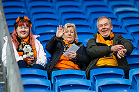 Wolves fans ahead of the Sky Bet Championship match between Cardiff City and Wolverhampton Wanderers at the Cardiff City Stadium, Cardiff, Wales on 6 April 2018. Photo by Mark  Hawkins / PRiME Media Images.