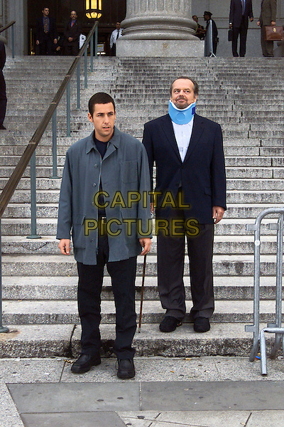 (l to r) Dave Buznik (Adam Sandler) and his court-appointed therapist, Doctor Buddy Rydell (Jack Nicholson), stand outside the courthouse in Revolution StudiosÍ comedy Anger Management, a Columbia Pictures release. .Filmstill - Editorial Use Only.Ref: FB.sales@capitalpictures.com.www.capitalpictures.com.Supplied by Capital Pictures.