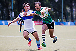 Avishka Lee of Sri Lanka runs in a try, while Chih-Yi Wu of Chinese Taipei tackles during the Asia Rugby U20 Sevens 2017 at King's Park Sports Ground on August 5, 2017 in Hong Kong, China. Photo by Yu Chun Christopher Wong / Power Sport Images