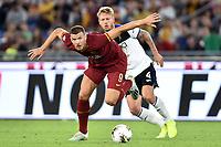 Edin Dzeko of AS Roma , Simon Kjaer of Atalanta BC <br /> Roma 25-9-2019 Stadio Olimpico <br /> Football Serie A 2019/2020 <br /> AS Roma - Atalanta Bergamasca Calcio <br /> Foto Andrea Staccioli / Insidefoto