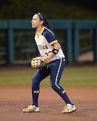 Michigan Wolverines Softball shortstop Sierra Romero (32) during a game against the University of South Florida Bulls on February 8, 2014 at the USF Softball Stadium in Tampa, Florida.  Michigan defeated USF 3-2.  (Copyright Mike Janes Photography)