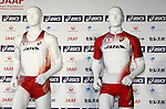 The detail shot of Japan National team jersey, <br /> JUNE 10, 2013 - Athletics : Athletics Japan National Team Press Conference for the IAAF World Championships 2013 Moscow at Akasaka Sacas Gallery in Tokyo, Japan. <br /> (Photo by AFLO SPORT)