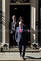 Democratic Unionist Party (DUP) delegation: Sir Jeffrey Donaldson, Nigel Dodds (Deputy Leader) and Emma Little Pengelly. <br />