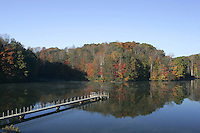 The Beaver creek reservoir which leads to the Mormon river in Albemarle County, Va. Credit Image: © Andrew Shurtleff