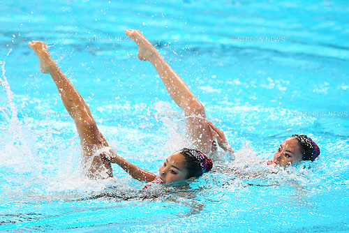 Yukiko Inui &amp; Risako Mitsui (JPN), <br /> JULY 28, 2015 - Synchronised Swimming :<br /> 16th FINA World Championships Kazan 2015<br /> Duets Free Routine <br /> Preliminary <br /> at Kazan Arena in Kazan, Russia.<br /> (Photo by Yohei Osada/AFLO SPORT)