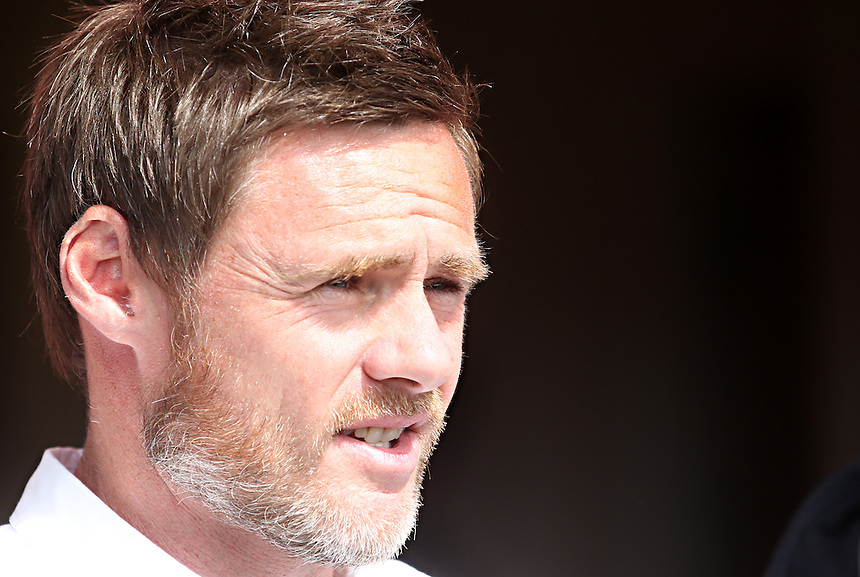 Fleetwood Town's Manager Graham Alexander<br /> <br /> Photographer Mick Walker/CameraSport<br /> <br /> Football - The Football League Sky Bet League One - Fleetwood Town v Southend United - Saturday 8th August 2015 - Highbury Stadium - Fleetwood<br /> <br /> &copy; CameraSport - 43 Linden Ave. Countesthorpe. Leicester. England. LE8 5PG - Tel: +44 (0) 116 277 4147 - admin@camerasport.com - www.camerasport.com