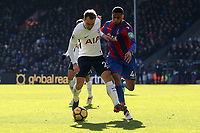 Jaïro Riedewald of Crystal Palace and Christian Eriksen of Tottenham Hotspur during Crystal Palace vs Tottenham Hotspur, Premier League Football at Selhurst Park on 25th February 2018