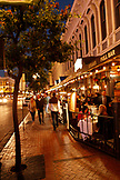 USA, California, San Diego, the streets near 5th Ave of the Gaslamp Quarter, a district of San Diego