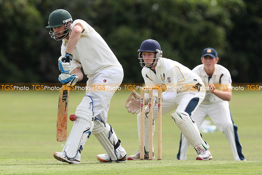 Matthew Tarr in batting action for Gidea Park - Gidea Park & Romford CC vs Horndon-on-the-Hill CC - Essex Cricket League at Gallows Corner - 30/08/14 - MANDATORY CREDIT: Gavin Ellis/TGSPHOTO - Self billing applies where appropriate - contact@tgsphoto.co.uk - NO UNPAID USE