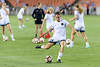 Houston, TX - Saturday July 08, 2017: Ashleigh Sykes warming up prior to a regular season National Women's Soccer League (NWSL) match between the Houston Dash and the Portland Thorns FC at BBVA Compass Stadium.