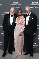 Albert WATSON,Halle BERRY,Marco TRONCHETTI PROVERO,(C.E.O.Pirelli),L_R,at the red carpet of the Pirelli Calendar launch 2019,Hangar Biccoca,MILANO,05.12.2018 Credit: Action Press/MediaPunch ***FOR USA ONLY***