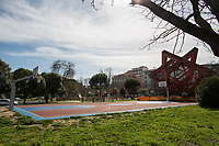 Rome, 12/03/2020. Rome's Olympic Village district under the Italian Government lockdown for the Outbreak of the Coronavirus SARS-CoV-2 - COVID-19. On the 22nd March, the Italian PM Giuseppe Conte signed a new Decree Law which suspends non-essential industry productions and contains the list of allowed working activities, which includes Pharmaceutical & food Industry, oil & gas extraction, clothes & fabric, tobacco, transports, postal & banking services (timetables & number of agencies reduced), delivery, security, hotels, communication & info services, architecture & engineer, IT manufacturers & shops, call centers, domestic personnel (1.).<br />