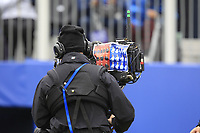 Camera man needs this printout to identify the players during Day 3 Singles at the Solheim Cup 2019, Gleneagles Golf CLub, Auchterarder, Perthshire, Scotland. 15/09/2019.<br /> Picture Thos Caffrey / Golffile.ie<br /> <br /> All photo usage must carry mandatory copyright credit (© Golffile | Thos Caffrey)