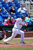 Portland Sea Dogs catcher Blake Swihart (5) during a game versus the New Britain Rock Cats at Hadlock Field in Portland, Maine on May 17, 2014. (Ken Babbitt/Four Seam Images)