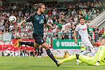 20.07.2018, Parkstadion, Zell am Ziller, AUT, FSP, 1.FBL, SV Werder Bremen (GER) vs 1. FC Koeln (GER)<br /> <br /> im Bild<br /> Martin Harnik (Neuzugang SV Werder Bremen #09) scheitert an Timo Horn (Koeln #01), <br /> <br /> Foto © nordphoto / Ewert