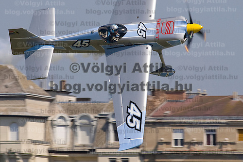 Red Bull Air Race held during a national holiday over river Danube in Budapest, Hungary. Wednesday, 20. August 2008. ATTILA VOLGYI