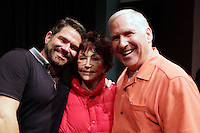 LOS ANGELES - NOV 9: Matt Zarley, mother, father at the special screening of Matt Zarley's 'hopefulROMANTIC' at the American Film Institute on November 9, 2014 in Los Angeles, California